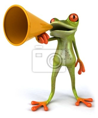 Frog with a megaphone