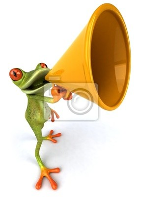 Wall mural Frog with a megaphone