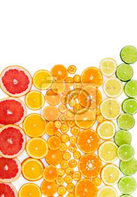 Fruit citrus background with grapefruit, orange, tangerine, lemo