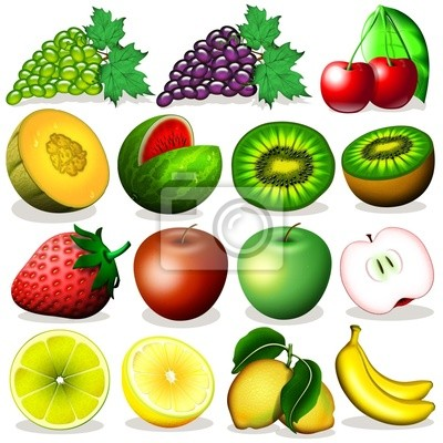 Wall mural Frutta icone-Fruit Icons