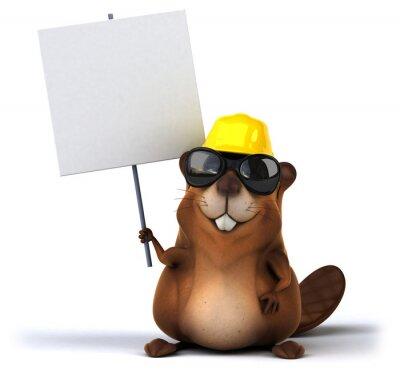 Wall mural Fun beaver
