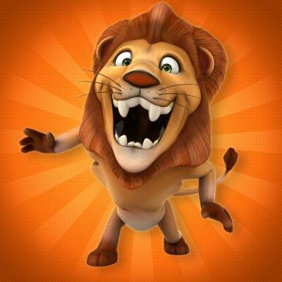 Wall mural Fun lion