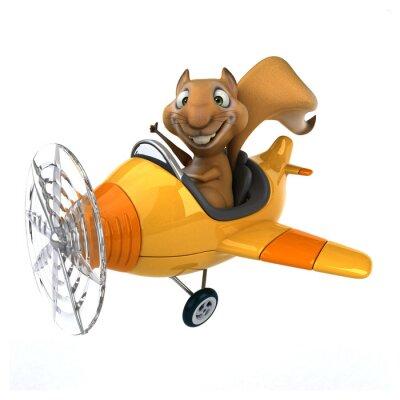 Wall mural Fun squirrel