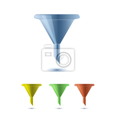 Wall mural funnel