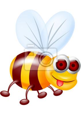 Wall mural Funny bee carton