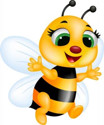 Wall mural Funny bee cartoon