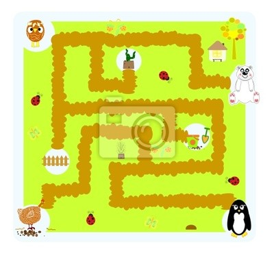 funny labyrinth for children
