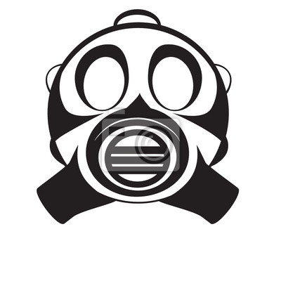 Wall mural gas mask