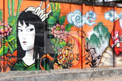 Wall mural geisha_1