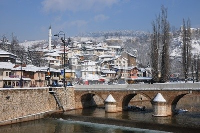 Wall mural General view of Sarajevo in the winter