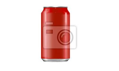 Wall mural Generic Tin Can with Copy Space Isolated on a White Background.