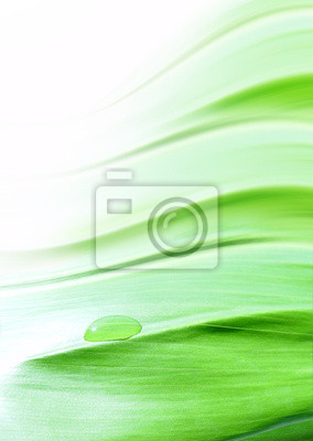 gentle green background with a drop