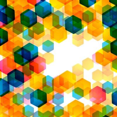 Wall mural geometric background