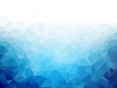 Wall mural Geometric blue ice texture background