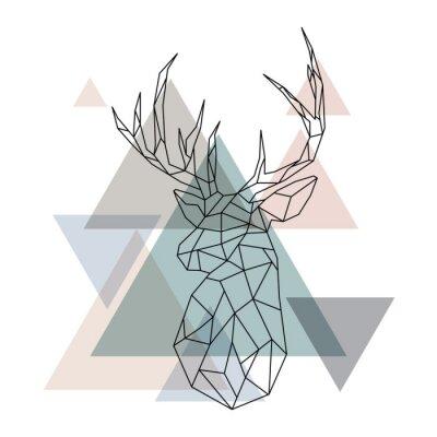 Wall mural Geometric reindeer illustration