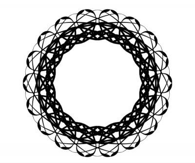 geometric round circle ornament frame mandala