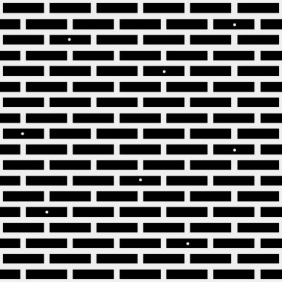 Wall mural Geometric simple black and white minimalistic pattern, brick. Can be used as wallpaper, background or texture.