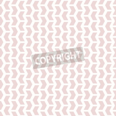 Wall mural Geometric vector pattern with pink arrows. Seamless abstract background