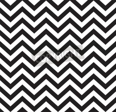Wall mural Geometric zigzag seamless pattern  Vector illustration