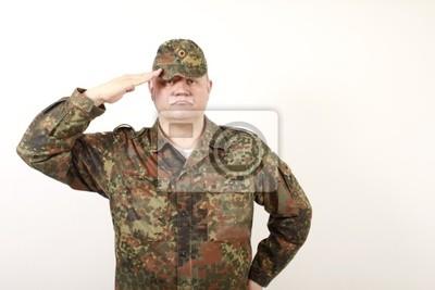 German soldier greets