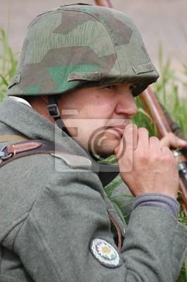 German soldier.WW2 reenacting. Kiev,Ukraine