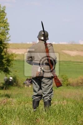 German soldier.WW2 reenacting . Kiev, Ukraine