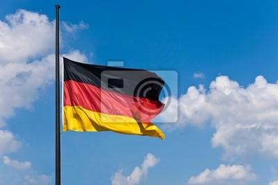 Germany flag at half mast