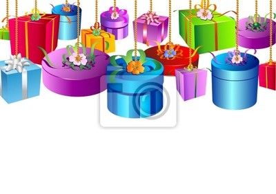 Gift Boxes Gifts Background - Background- 2 -Vector