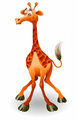 Giraffa Cartoon-Funny Giraffe-Vector