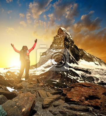 Girl in the mountains - Pennine Alps, Switzerland