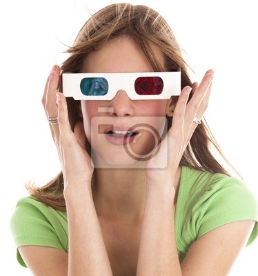 girl with 3d glasses