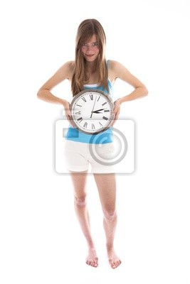 girl with time