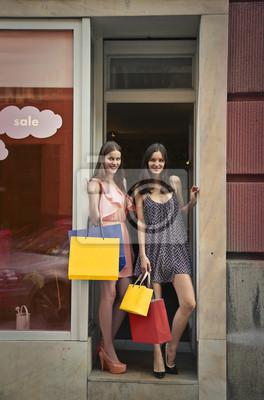 Girls doing shopping