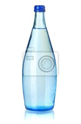 Wall mural Glass bottle of soda water