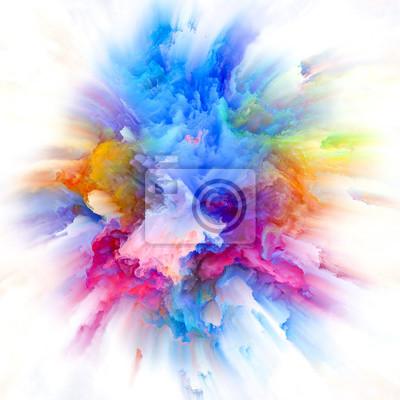 Globalization of Colorful Paint Splash Explosion