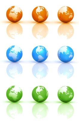 Globe Earth Sets