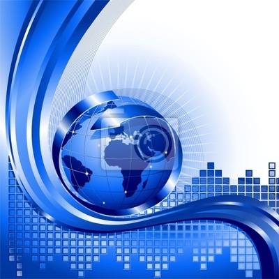 Globo Affari Internazionali-World Business Background-2-Vector