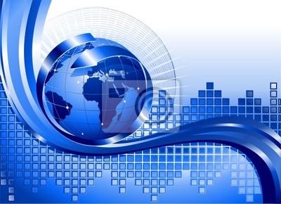 Globo Affari Internazionali-World Business Background-Vector