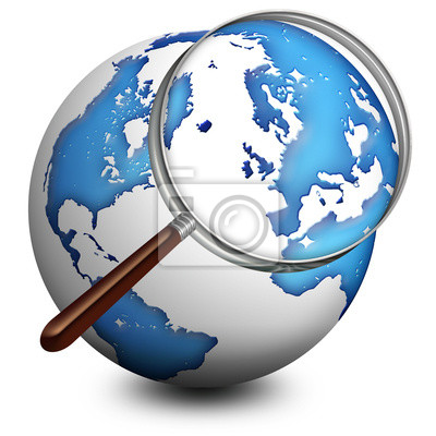 Globo con Lente-Lenses and Globe-Globe avec Loupe 1