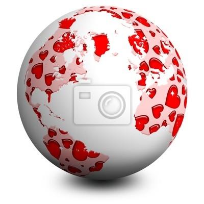 Globo di Cuori-Hearts Earth-Sphère d'Amour