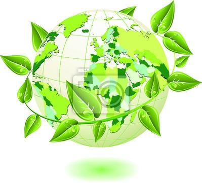 Globo Ecologico-Ecological Globe-Sphere Ecologique-Vector