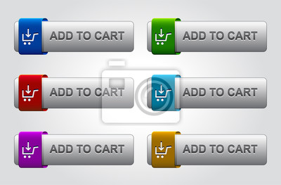 glossy add to cart buttons set
