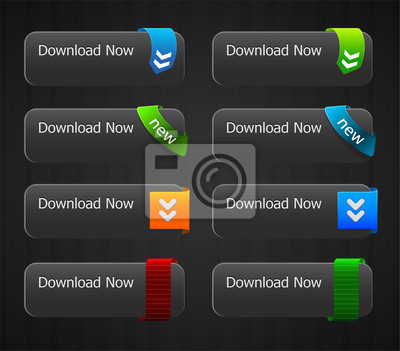 glossy download buttons set