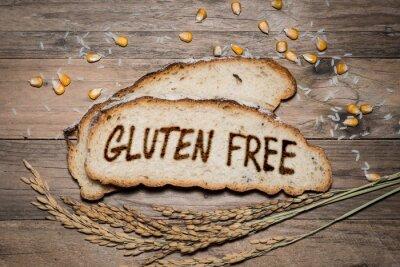 Wall mural Gluten free logo grilled on bread