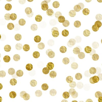 Wall mural Gold Dots Faux Foil Metallic Background Pattern Texture