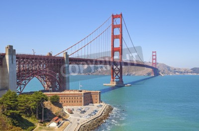 Wall mural Golden Gate Bridge in San Francisco, USA.