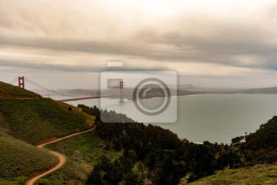 Wall mural Golden Gate Bridge in San Francisco USA during spring