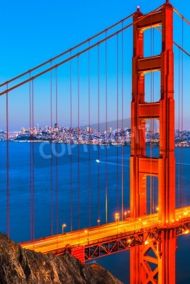 Wall mural Golden Gate Bridge, San Francisco, California, USA.