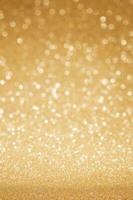 Wall mural Golden glitter abstract background