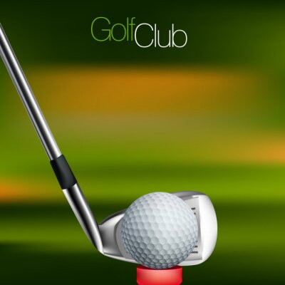 Wall mural Golf Background